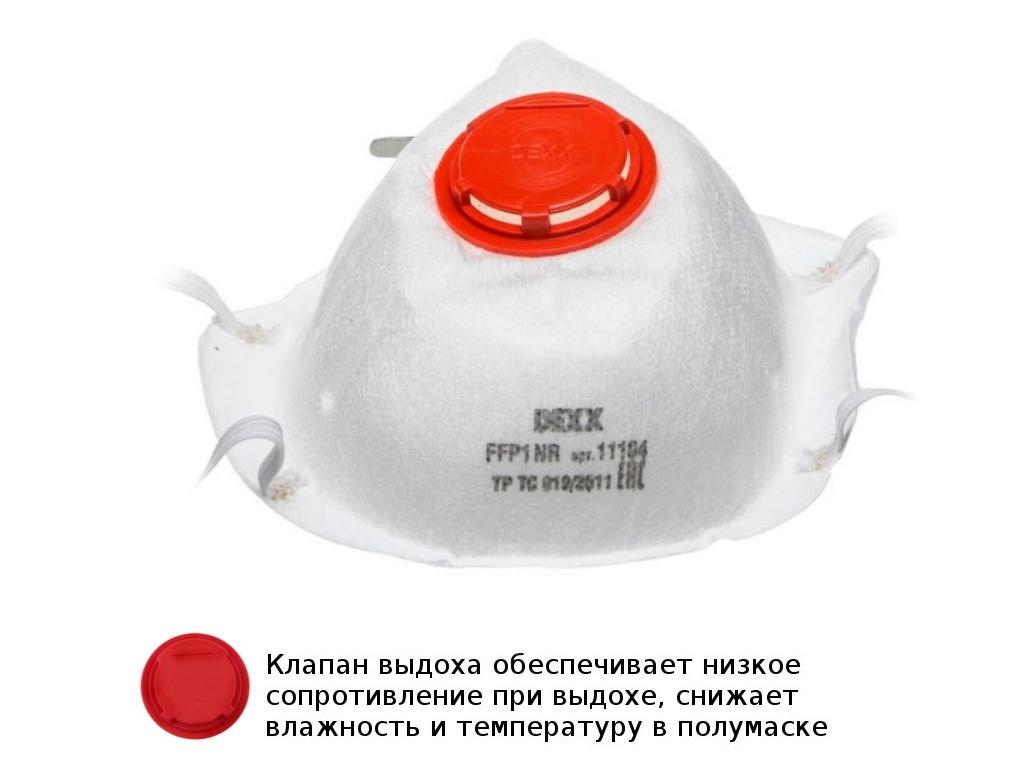 Защитная маска Dexx класс защиты FFP1 (до 4 ПДК) 11104