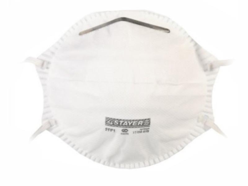 Защитная маска Stayer Profi 11109-H1 1шт класс защиты FFP1 (до 4 ПДК)